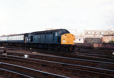40044 heads south on a passenger working.