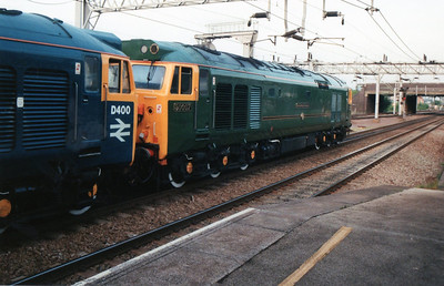 D400_50007 run round the stock at Nuneaton for the last time.
