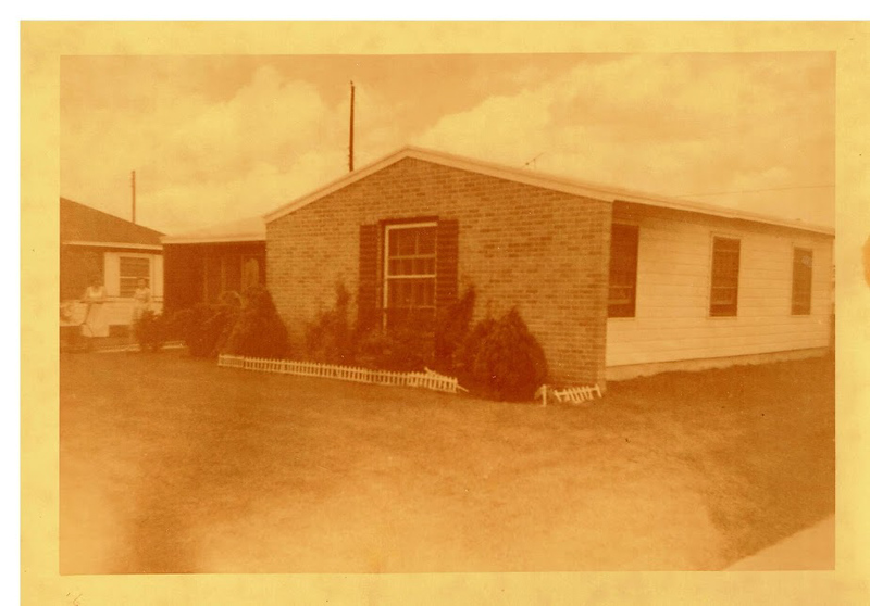Dad's house at 7439 Brockley Lane, Houston in 1953