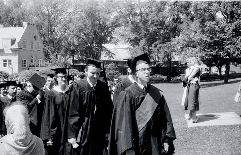 1957 Ripon College  -  Ripon, WI - David Baral's graduation - 2