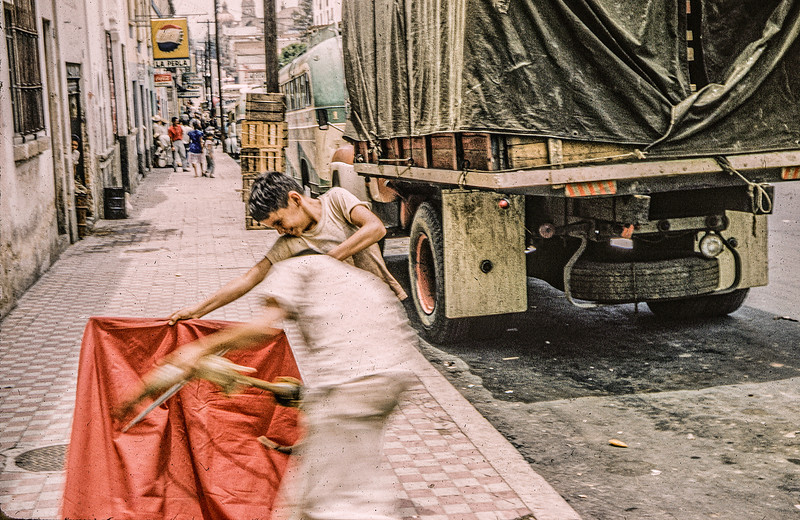 1961 summer - Street scene in Guaymas, Mexico-Edit