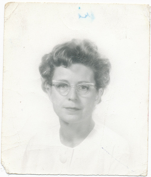 1958-001 Mary Francis Baral in Tucson, photo by Rimel Studio, 54 N Main Ave