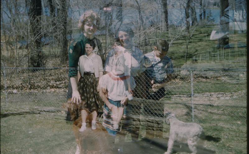 1962 Double exposure - Evelyn & Carol