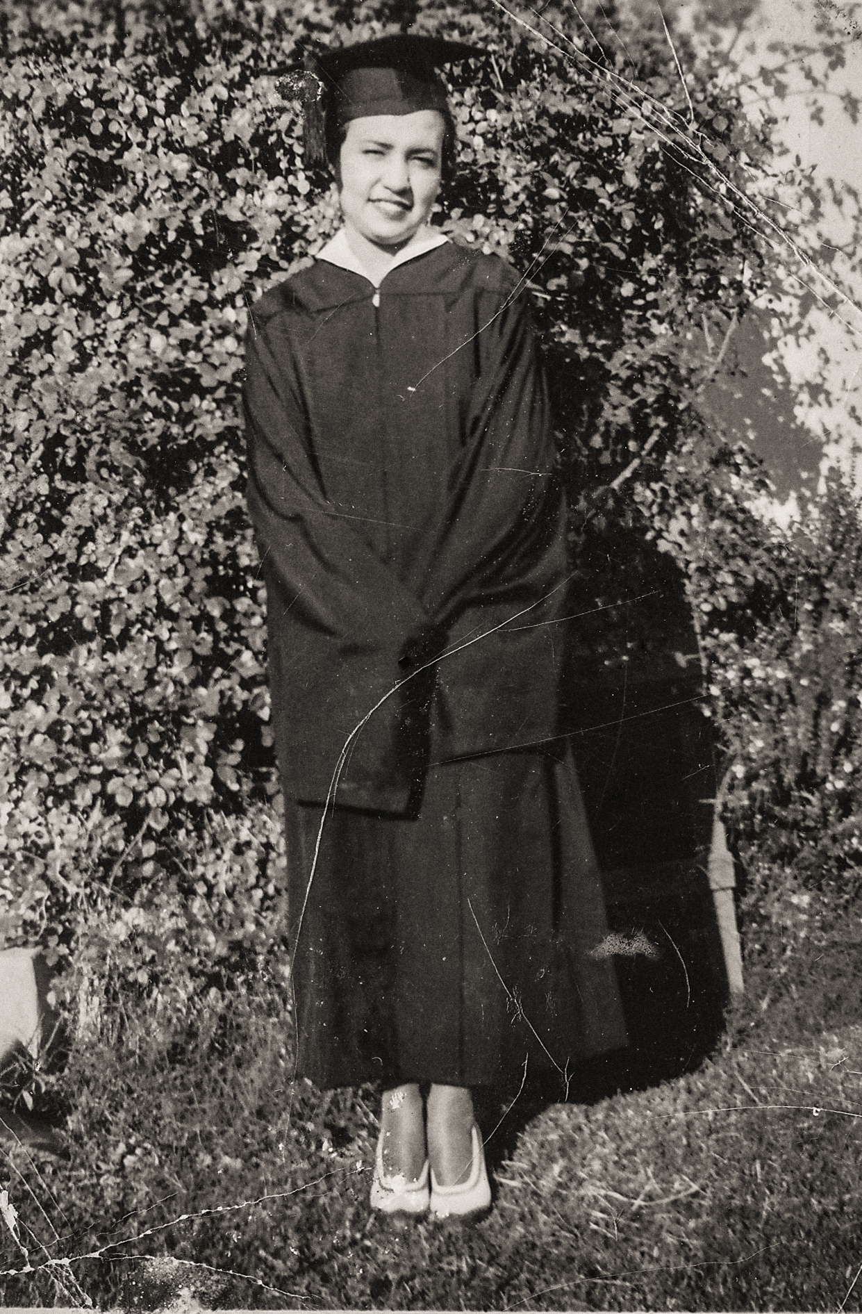 Sort ID: 1935-01 Image ID: C101 (est) Year: 1935. Photo content: Mother. Location of photo: Graduation from Arizona Teachers College in Tempe.