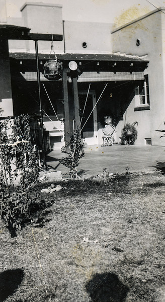 Sort ID: 1938-J03 Image ID: C298 est Year: 1938. Photo content: Location is in the back of Aunt Josephine's home at 1748 E Linden Ave, Tucson AZ. She and Charlie Urquides lived here before they built their home on Edison St.
