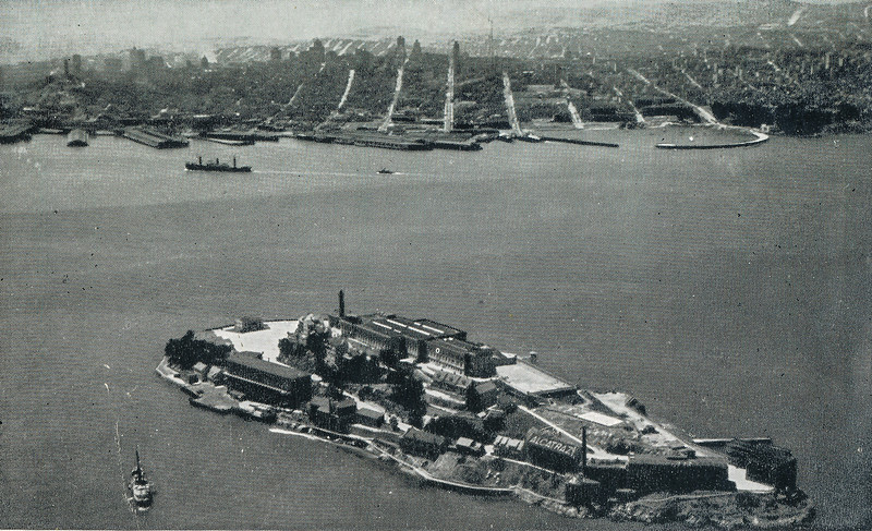 Sort ID: 1939-01 Image ID: C344 Year: 1939.   Photo content: Postcard of Alcatraz Island in San Francisco, liked picked up by mother on her visit to the World Fair in that city.