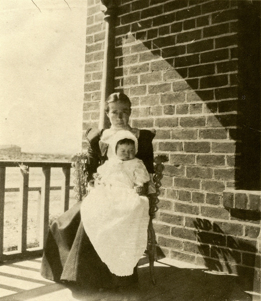Sort ID: 1901-01 Image ID: D015 (est) Year: 1901. Photo content: Charlie Urquides (future husband of Josephine Delgado) and, presumably, his mother, Mariana (born 1875). Location of photo: Tucson, AZ.