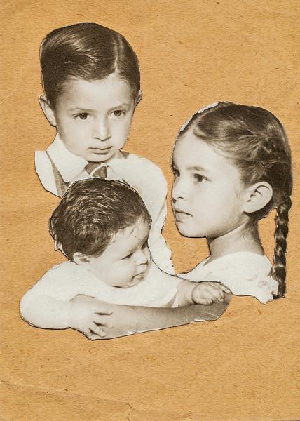 Sort ID: 1949-009 Image ID: C555 (est) Year: (est) 1949. Edward, Fred,  Margaret.