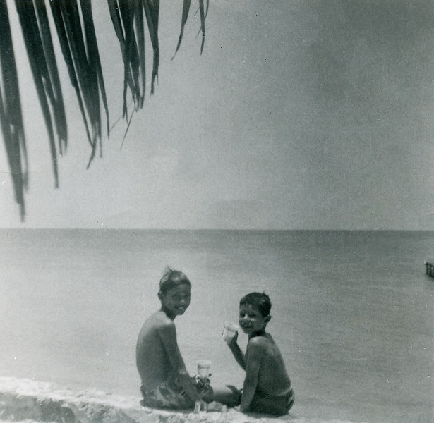 Sort ID: 1954-040 Image ID: C576 (est) Year: 1954. Edward, and Fred in Venezuela. At this time, we were  living in Las Morochas, near Lagunillas.