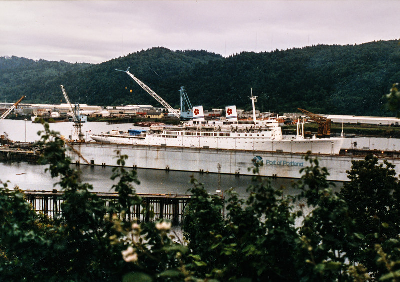 1989 SS Constitution in Portland for maintenance