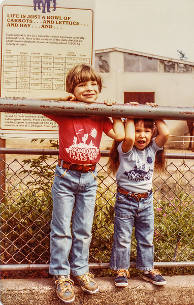 1983 Brian and Erica at a zoo