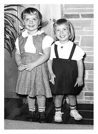 Joanne, 4 and Linda, 3