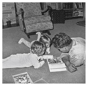 Nov. 54  I still remember those pink rubber curlers, and bedtime stories by Dad.