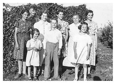 Mae, Alphonse, Clarice, Maria, Kathryn, Elsie, Ethel, Joe, Jessie