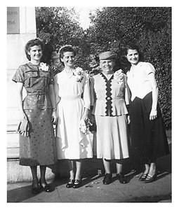 Martha, Clarice, Grandma and Maria at Clarice's wedding