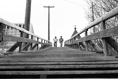 Edmonton - Stairs up McDougall Hill
