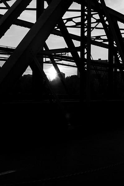 Low Level Bridge at Sunset