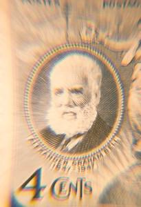 1947 Alexander Graham Bell 4 Cent Stamp
