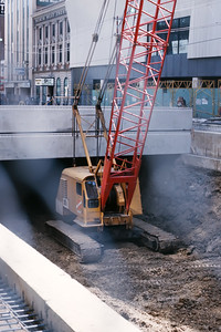 Building the LRT - Downtown Edmonton