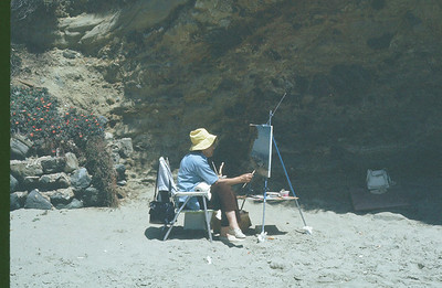 Just some lady oil paining at Laguna the day I did all the model shots.