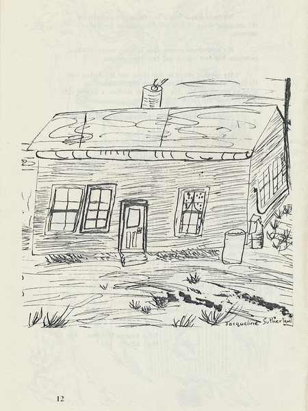 Homes around the Bay 1971: Jacqueline Sutherland drawing.