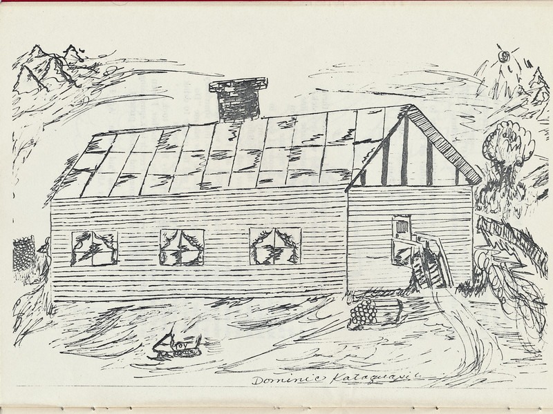 Homes around the Bay 1971: Dominic Kataquapit drawing.