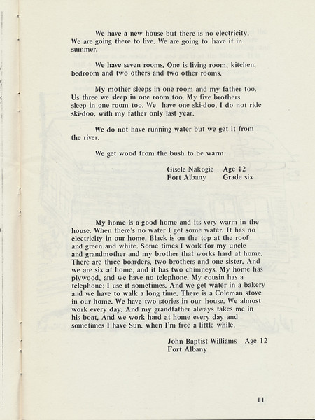 Homes around the Bay 1971: Gisele Nakogie (Nakogee) story. John Baptist Williams story.