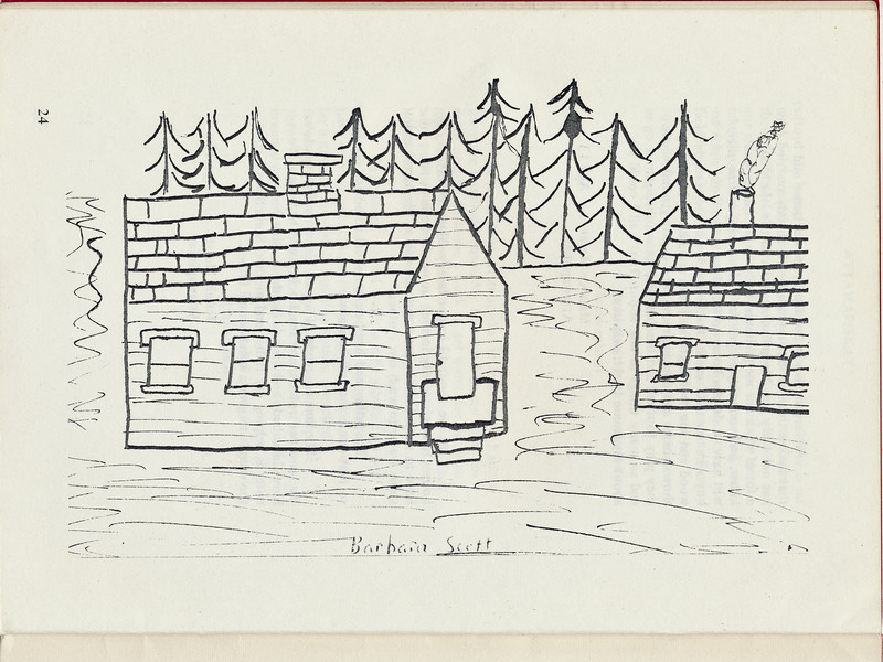 Homes around the Bay 1971: Drawing by Barbara Scott.