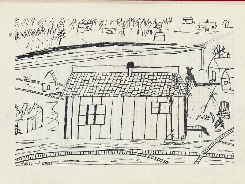 Homes around the Bay 1971: Drawing by Robert Loone.