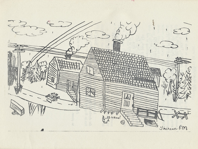 Homes around the Bay 1971: drawing by Theresa Paul Martin (Paulmartin)