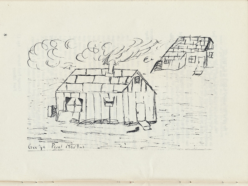 Homes around the Bay 1971: George Paul Martin drawing.