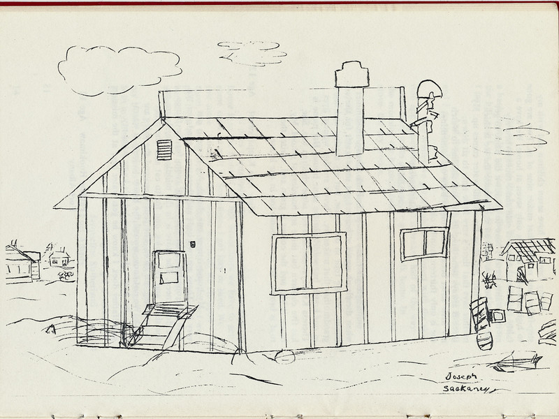 Homes around the Bay 1971: Drawing by Joseph Sackaney.