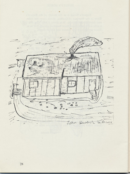 Homes around the Bay 1971: Drawing by John Baptiste Williams