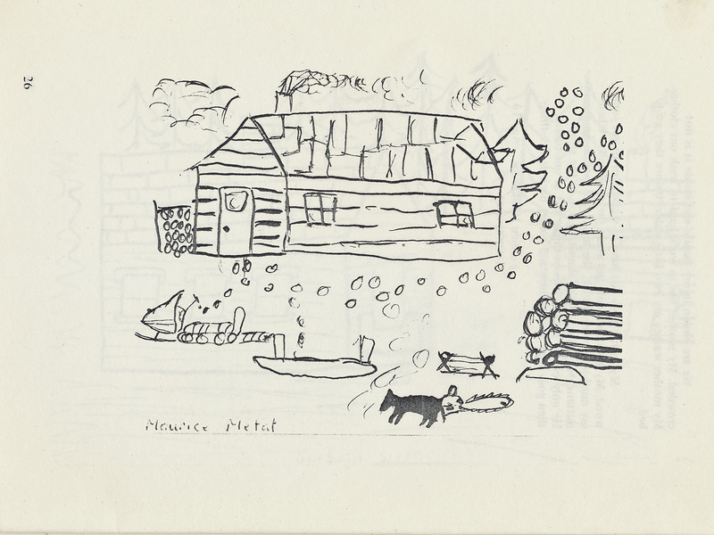 Homes around the Bay 1971: Drawing by Maurice Metat.