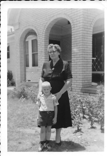 Here I am with my grandma on my mother's side, Myrtle Johnson, standing by my homeplace.  Funny story is that I would sometimes call my grandma, Uncle grandma.  Ha.
