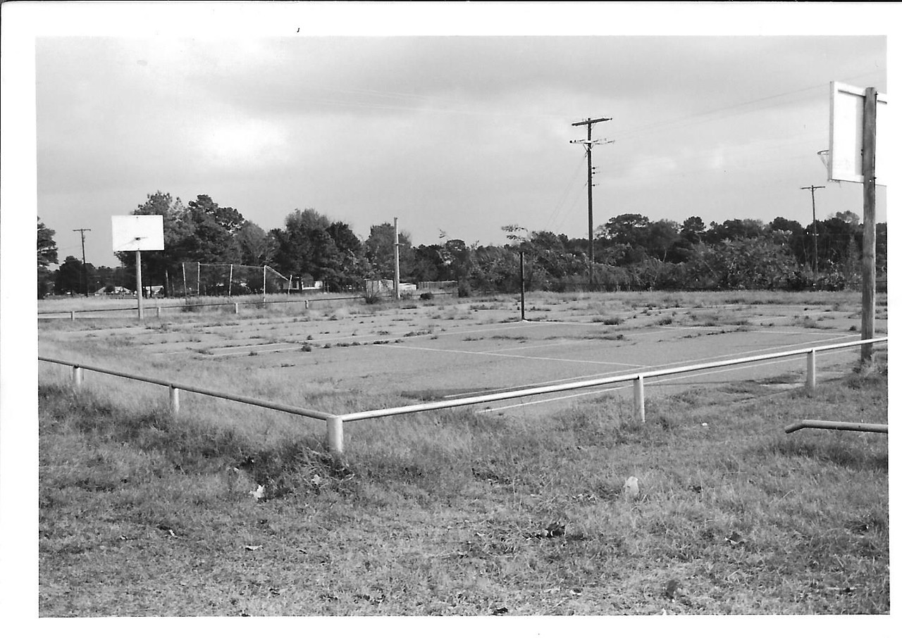 Old tennis courts.