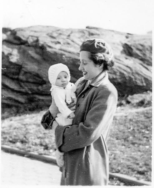 Elizabeth Brady holding Paul Brady