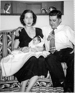 Elizabeth Brady holding Paul Brady, William Brady