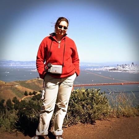 Dana over the Golden Gate