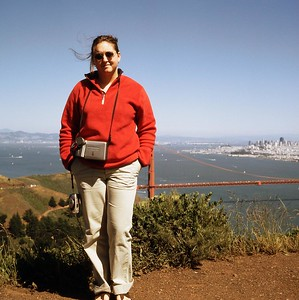 Dana over the Golden Gate 2