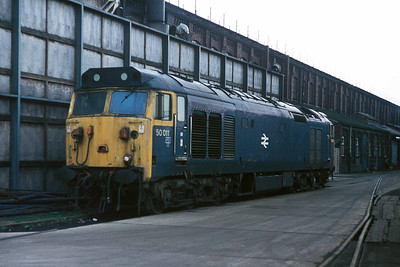 Class 50 No 50011 at Doncaster Works