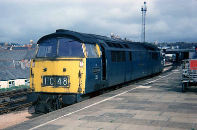 "Class 52 No D1048 ""Western Lady"" at Plymouth on 28 September 1976"