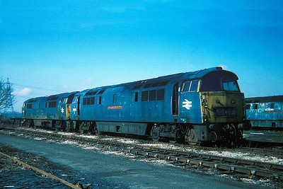 "Class 52 No D1054 ""Western Govenor"" in Swindon Works on 27 February 1977"
