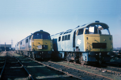"Class 52 No D1006 ""Western Stalwart"" in Swindon Works on 27 February 1977"
