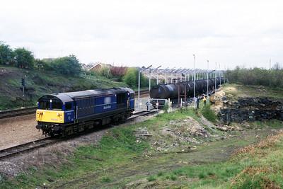 Class 58 No 58038 at Kilnhurst