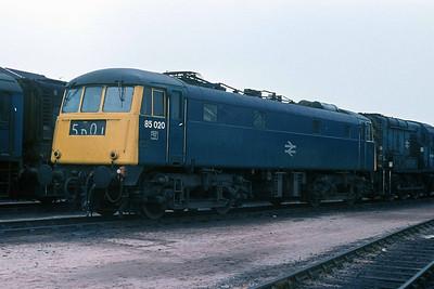 Class 85 No 85020 at Bescot