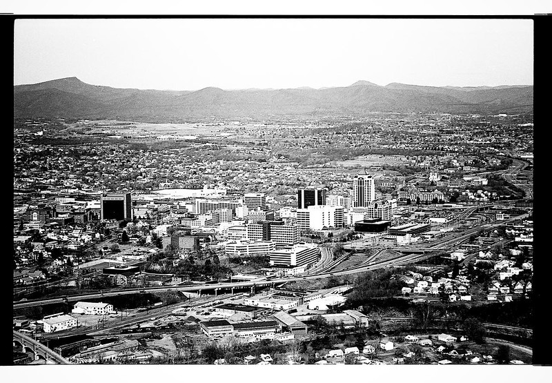 Downtown Roanoke from Mill Mountain ca 1993