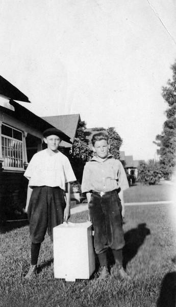 """With John Zimmer in California, 1921"" (""John DV"" written by WCM)"