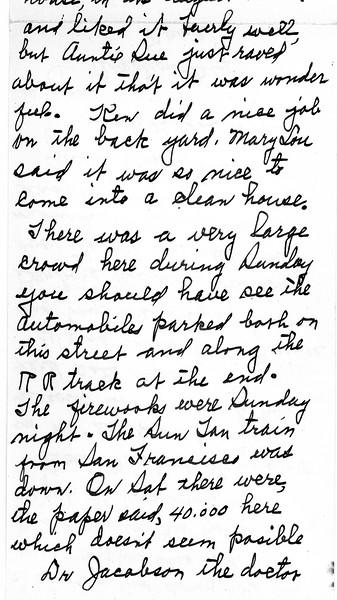 Letter from Nana.