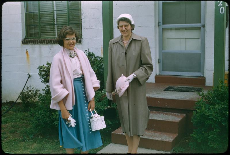 "5/8/1955 ""Karen, Grace, 420 Mertland Ave."" 35mm Kodachrome slide Mount dated March 1981 (remounted?) Stamped #8"